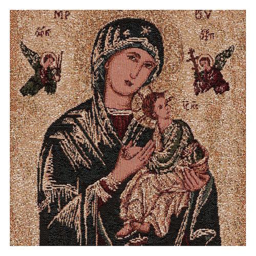 Arazzo Madonna del Perpetuo Soccorso oro 40x30 cm 2