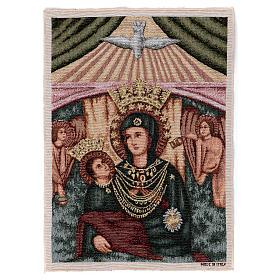 Arazzo Madonna con bambino angeli 40x30 cm s1