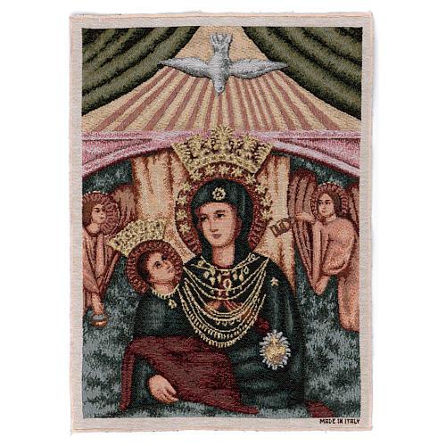 Arazzo Madonna con bambino angeli 40x30 cm 1