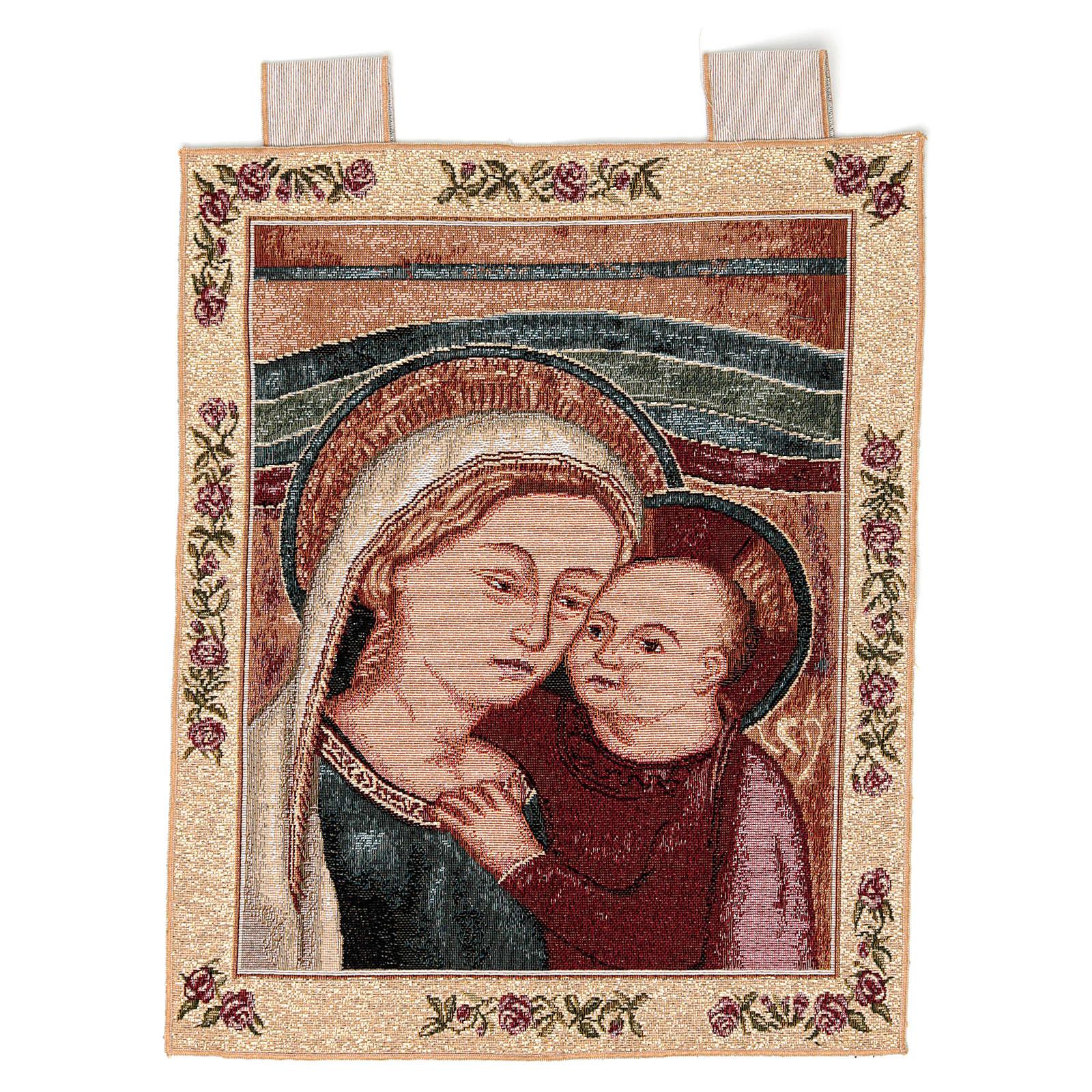 Arazzo Madonna del Buon Consiglio cornice ganci 40x30 cm 3