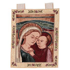 Arazzo Madonna del Buon Consiglio cornice ganci 40x30 cm s1