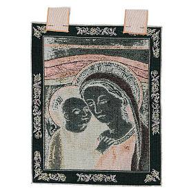 Arazzo Madonna del Buon Consiglio cornice ganci 40x30 cm s3