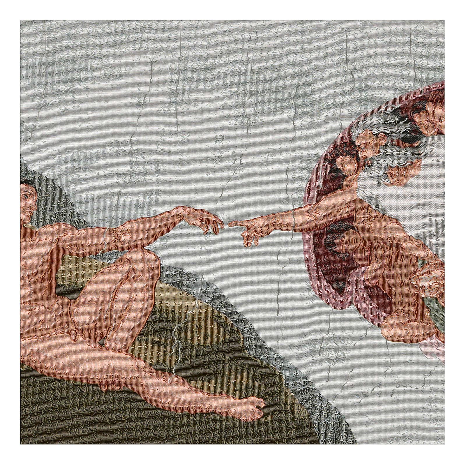 Wandteppich Erschaffung Adams 40x60 cm 3