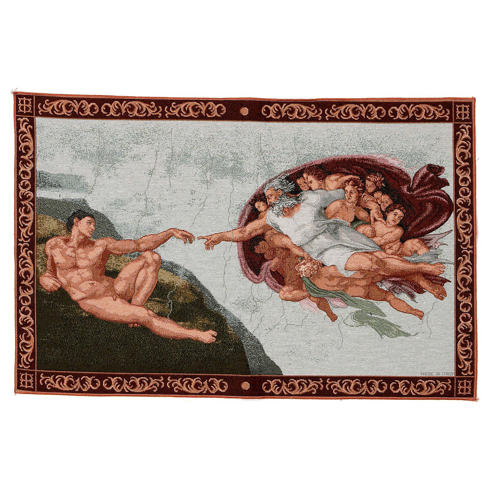 Tapeçaria Criação de Adão moldura 40x60 cm 3