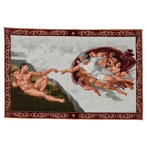 Tapeçaria Criação de Adão moldura 40x60 cm 1