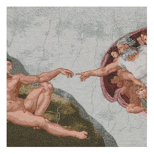 The Creation of Adam tapestry 16.5x25.5