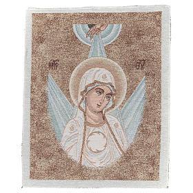 Wandteppich Antlitz byzantinische Madonna mit Strahlen umgeben 45x40 cm s1