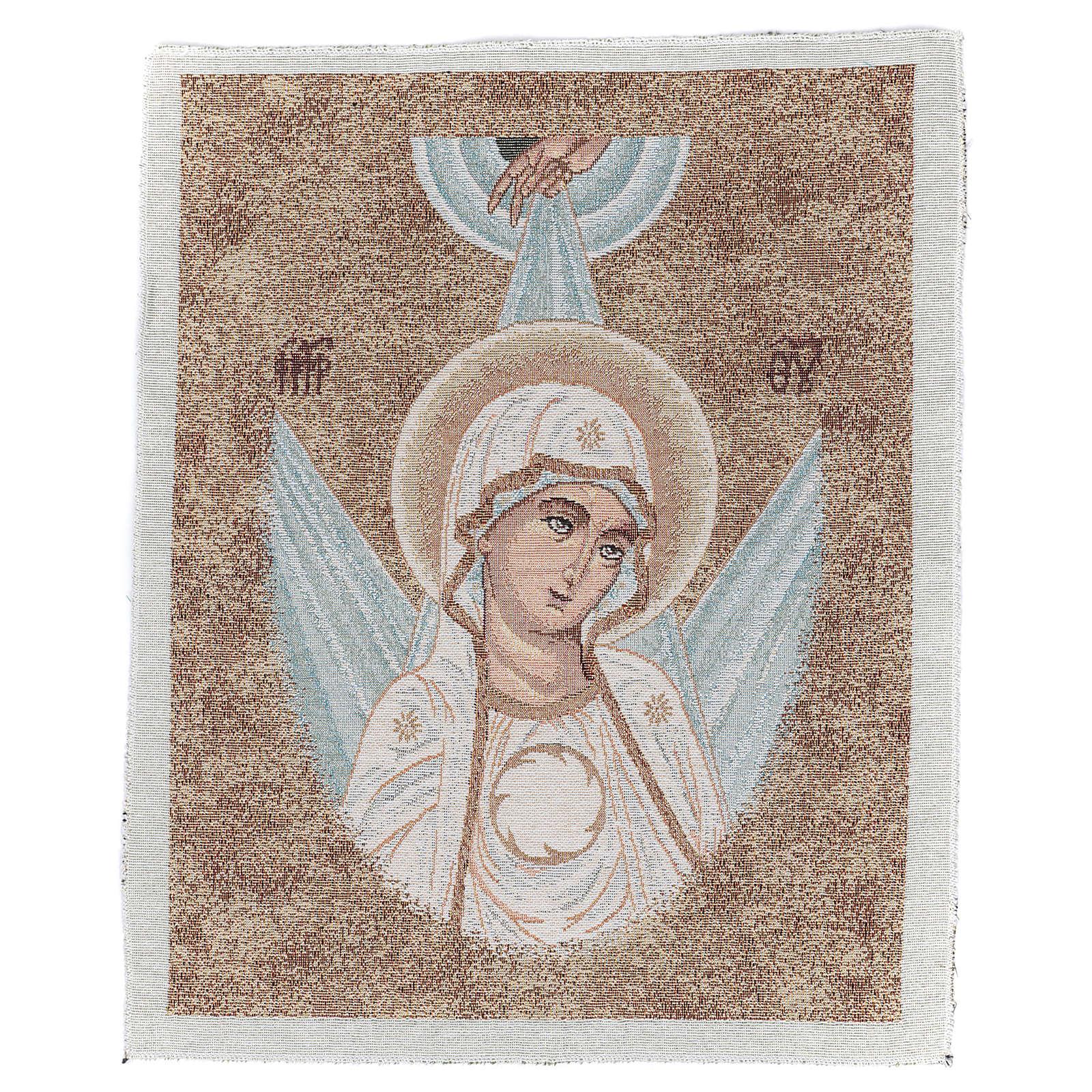 Arazzo con Volto Madonna Bizantina con raggi 45x40 cm 3