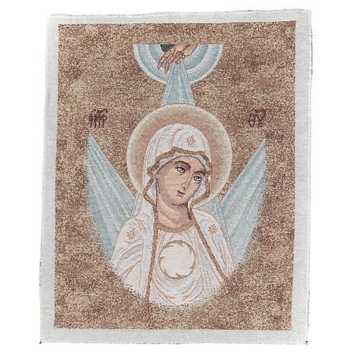 Arazzo con Volto Madonna Bizantina con raggi 45x40 cm 1