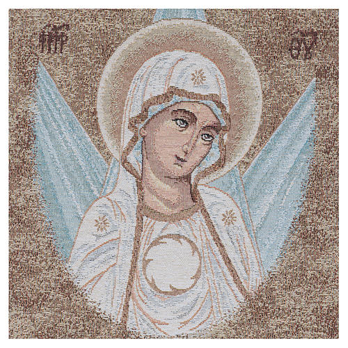 Arazzo con Volto Madonna Bizantina con raggi 45x40 cm 2