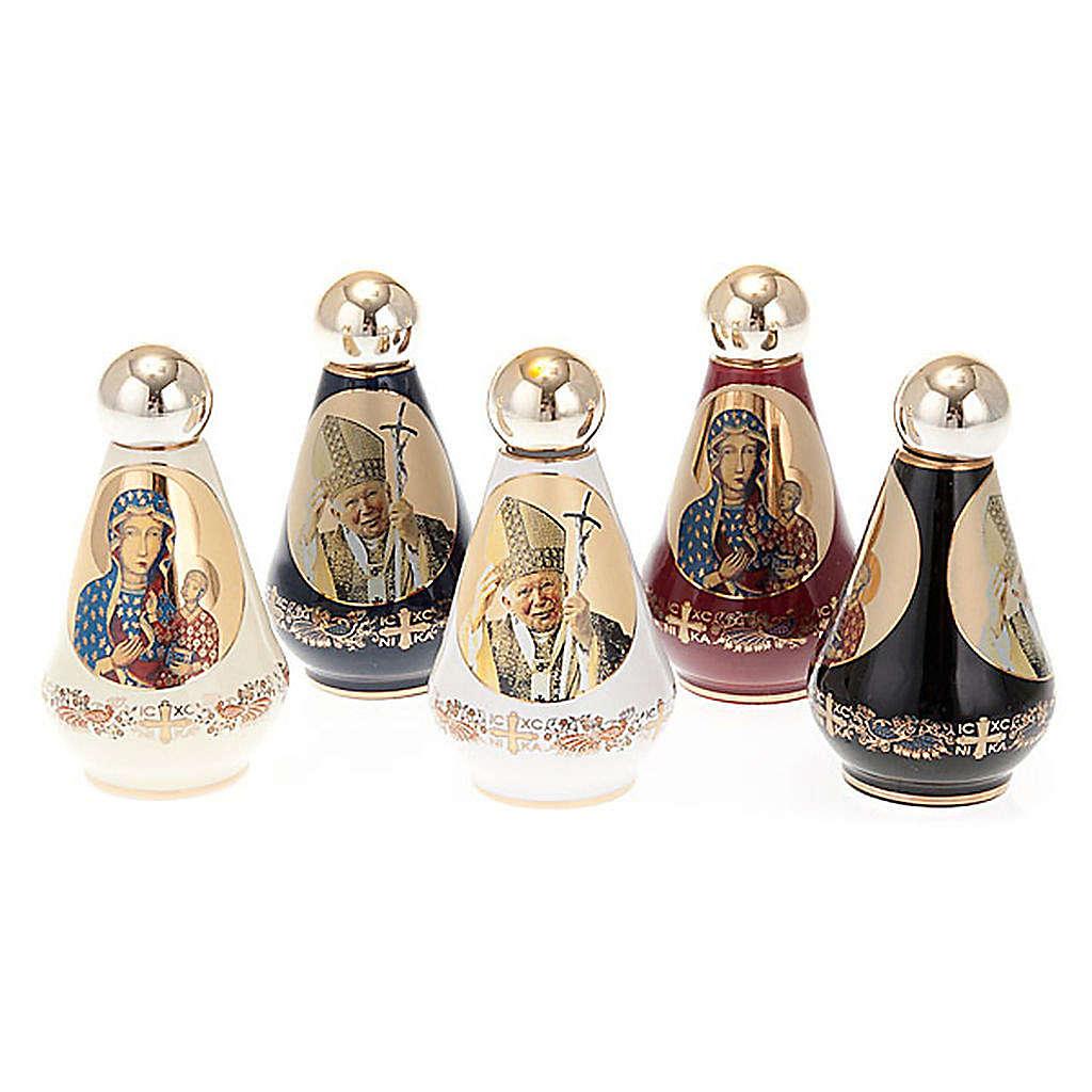Weihwasserfläschchen aus Keramik, sortiert 3