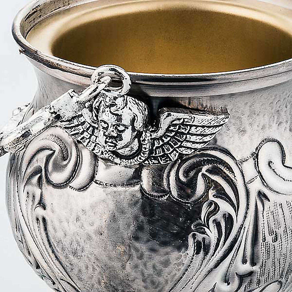 Chiselled brass holy water pot  XP 3