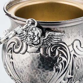 Chiselled brass holy water pot  XP s4