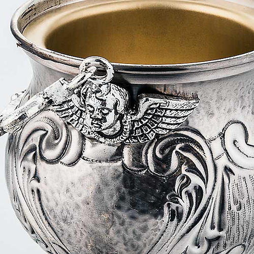 Chiselled brass holy water pot  XP 4