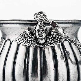 Secchiello per acqua santa ottone cesellato decorato s3