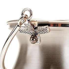 Holy water bucket in silver-plated brass, simple model s4