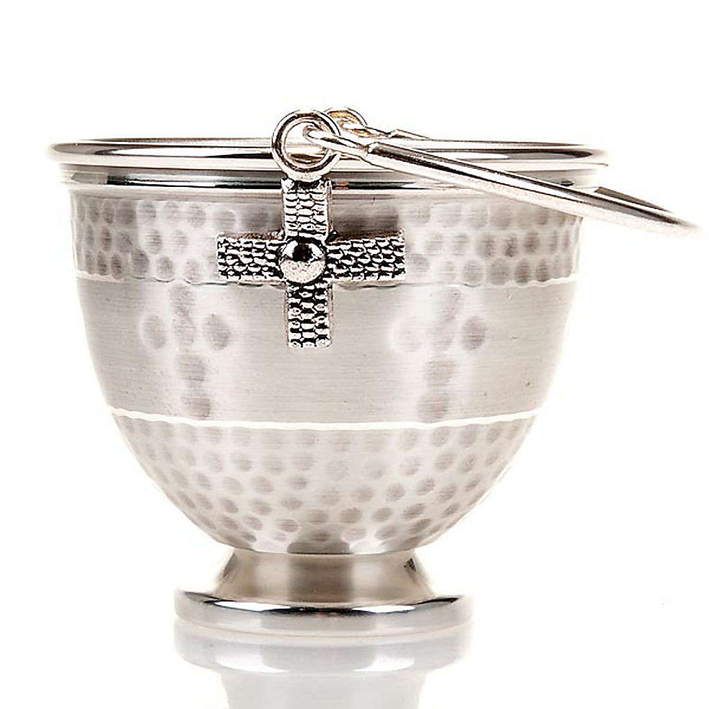 Holy water pot with embossed cross decoration 3