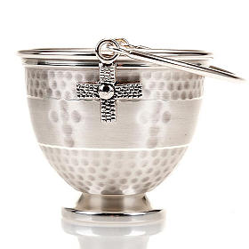 Holy water pot with embossed cross decoration s3