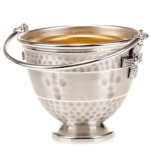 Holy water pot with embossed cross decoration 1