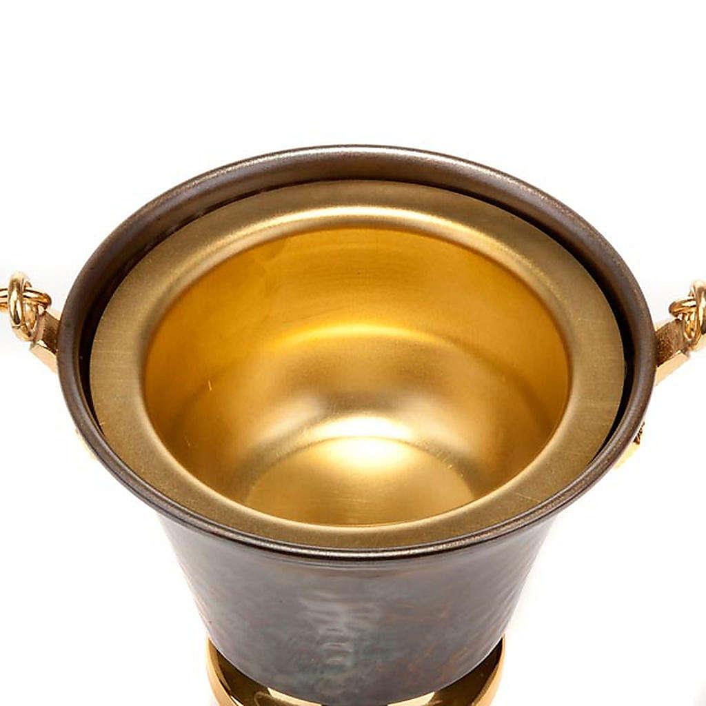 Secchiello per acqua santa bronzo sbalzato 3