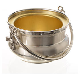 Seau à eau bénite, laiton argenté s2