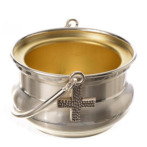 Seau à eau bénite, laiton argenté 1
