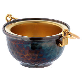 Secchiello per acqua santa ottone s2