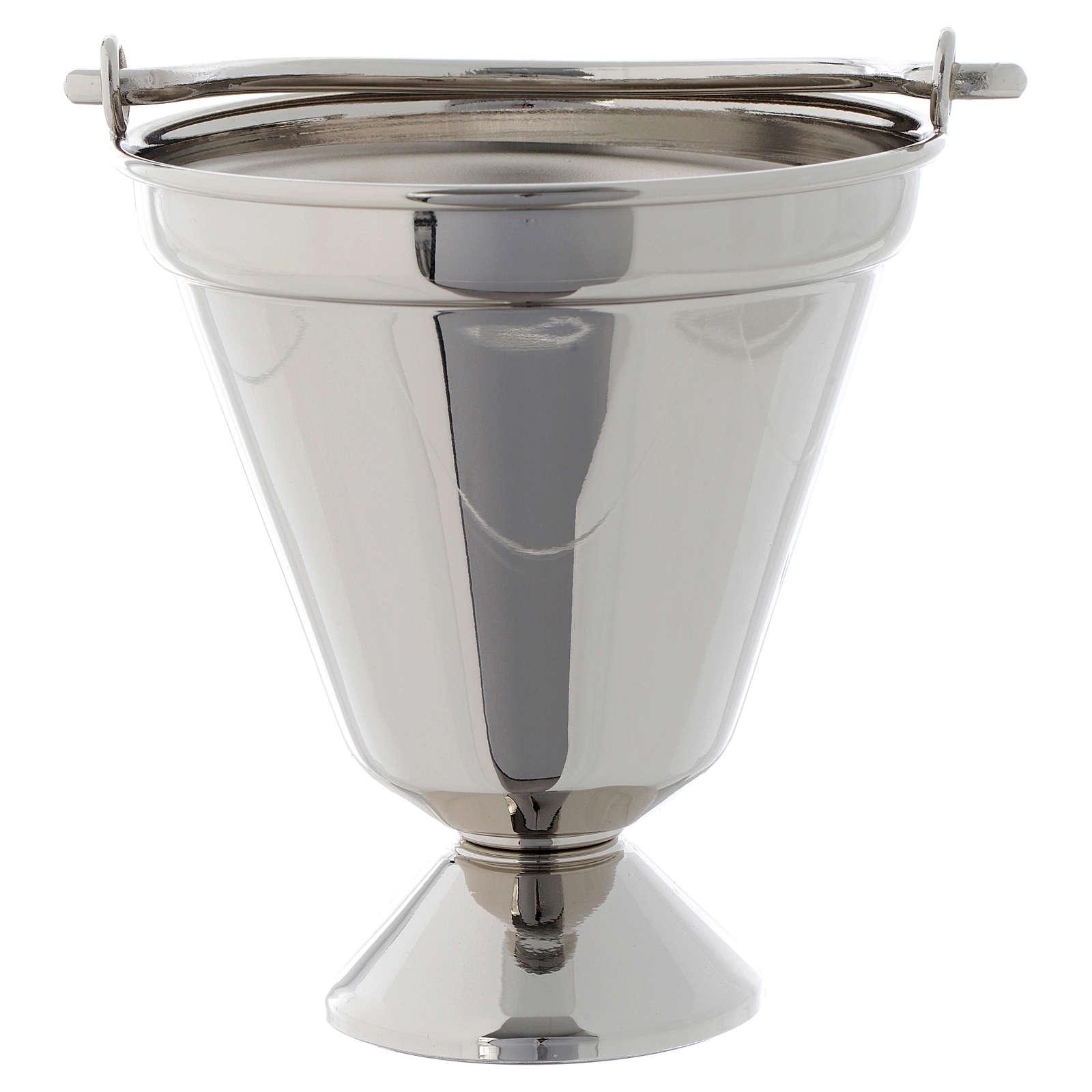 Seau à eau bénite nickelé modèle simple 3