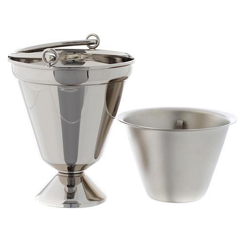 Seau à eau bénite nickelé modèle simple 5