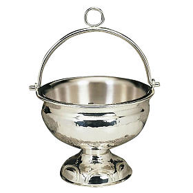 Holy water pot silver or golden plated s1