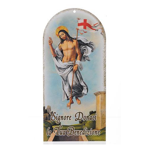Preghiera Benedizione Gesù Risorto fustella tonda (100 pz.) 1