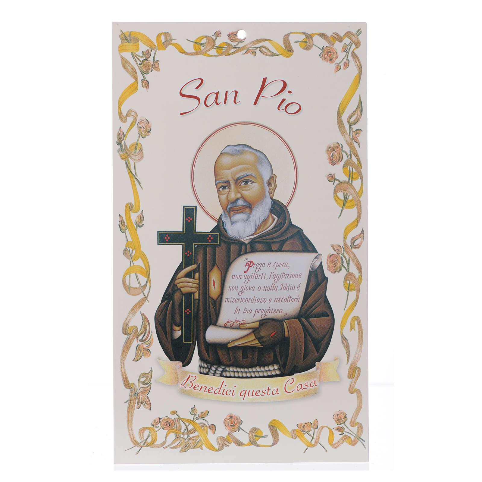 Benedizione case: San Padre Pio con preghiera (100 pz.) 3