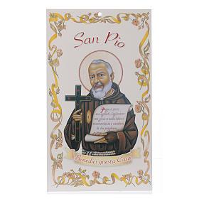 Benedizione case: San Padre Pio con preghiera (100 pz.) s1