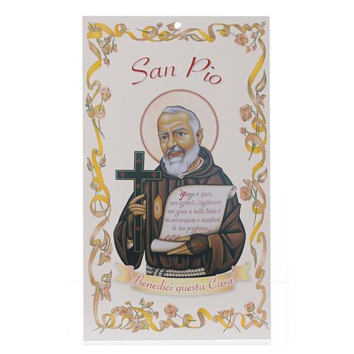 Benedizione case: San Padre Pio con preghiera (100 pz.) 1