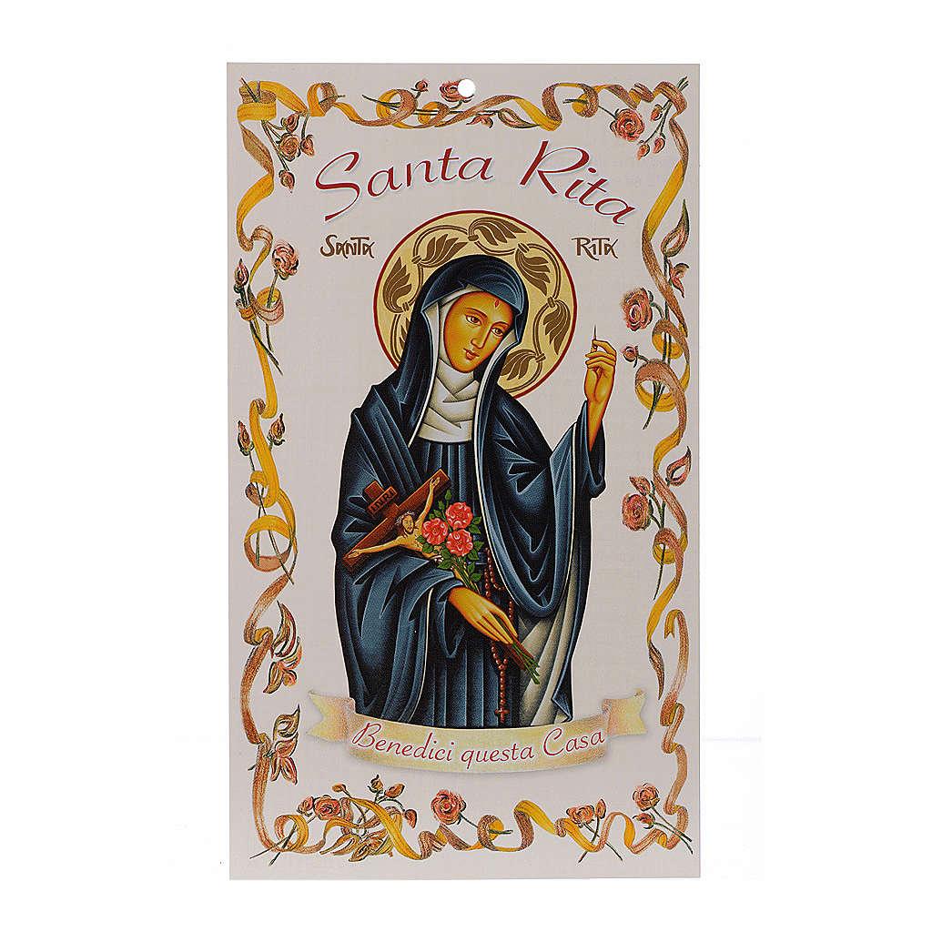 Benedizione pasquale: Santa Rita con preghiera (100 pz.) 3