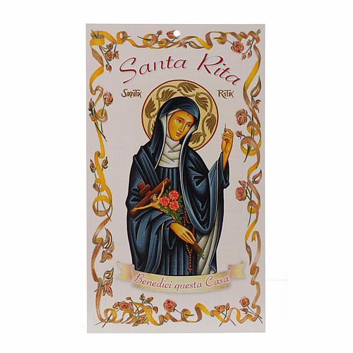 Benedizione pasquale: Santa Rita con preghiera (100 pz.) 1