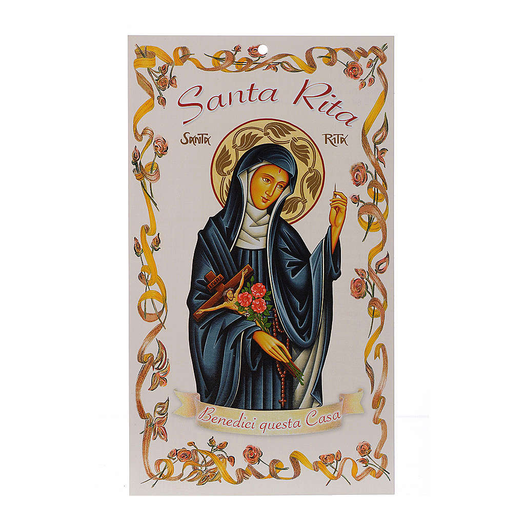 Easter blessing: Saint Rita with prayer (100 pieces) 3
