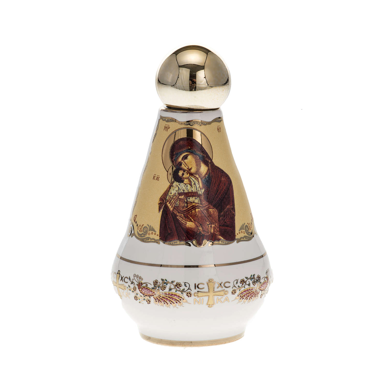 Holy water bottle ceramic Virgin Mary 3
