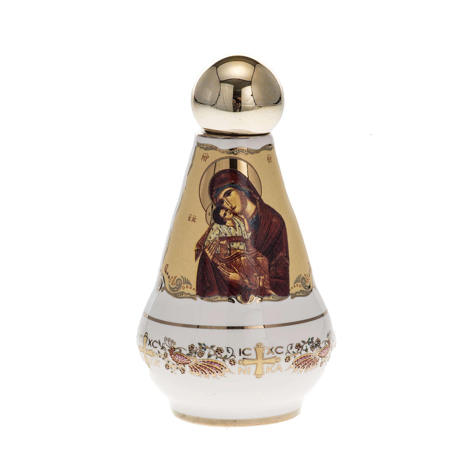 Bottiglietta per acqua santa ceramica Madonna 3