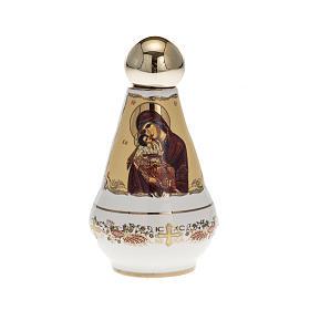 Bottiglietta per acqua santa ceramica Madonna s1