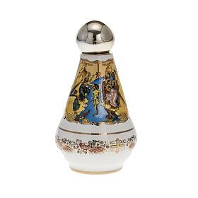 Bottiglietta per acqua santa ceramica Madonna s2