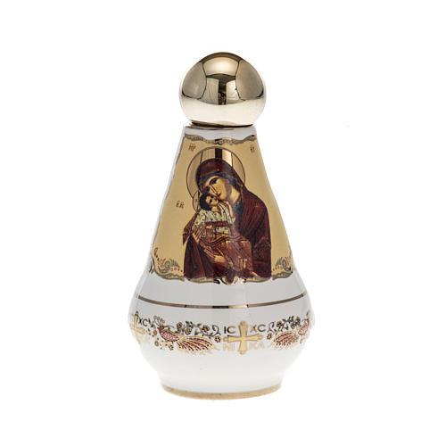 Bottiglietta per acqua santa ceramica Madonna 1