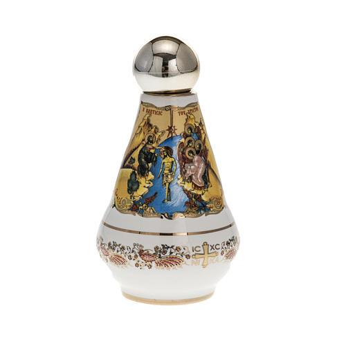 Bottiglietta per acqua santa ceramica Madonna 2