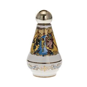 Bottiglietta per acqua santa ceramica Cristo s2