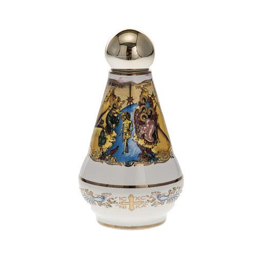 Bottiglietta per acqua santa ceramica Cristo 2