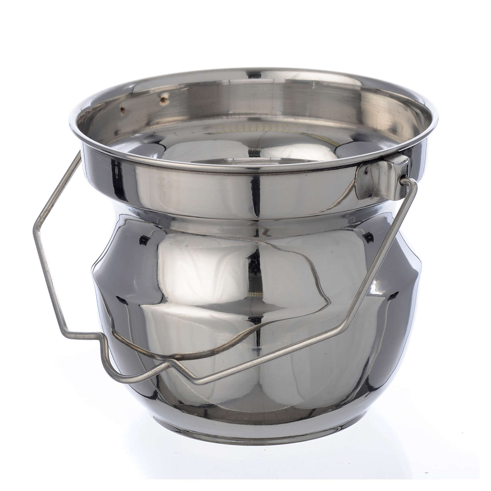 Holy water vessel for blessings in steel 3