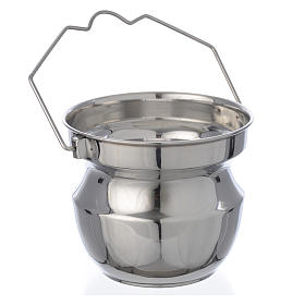 Holy water vessel for blessings in steel s2