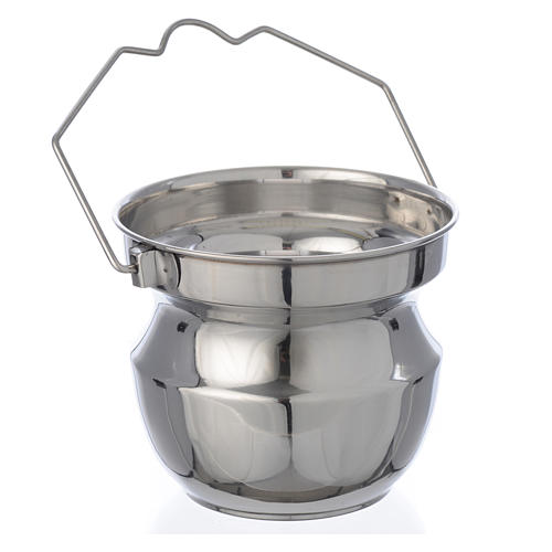 Holy water vessel for blessings in steel 2