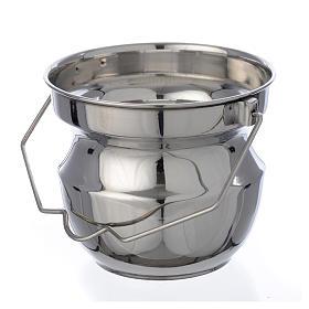 Objetos para Bênção: Caldeira para bênção em aço liso