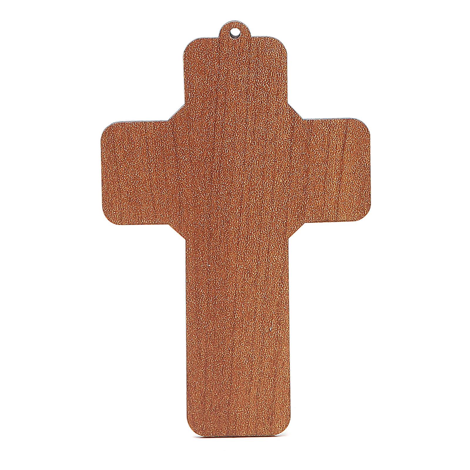 Cruz Sagrada Familia Bendición para las Familias 13 x 8,5 cm ITALIANO 3